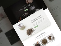 Tea Shop Website Template - Sneak Peak