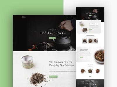 Tea Shop Website Template Design for DIvi