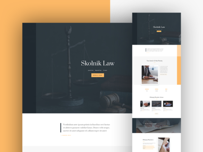 Law Firm Website Template Design for Divi
