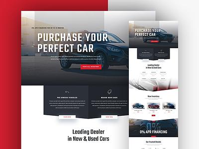 Car Dealer Website Template Design for Divi auto landing page business corporate automotive dealer car divi wordpress landing template website