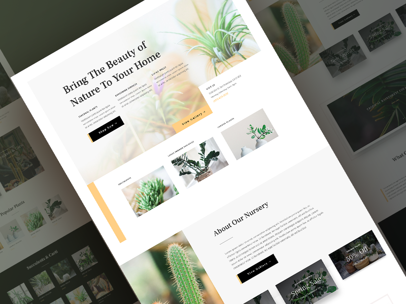 Plant Nursery Website Template Sneak Peak By Sayeed Ahmad