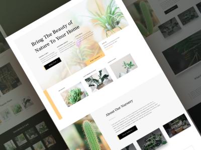 Plant Nursery Website Template - Sneak Peak