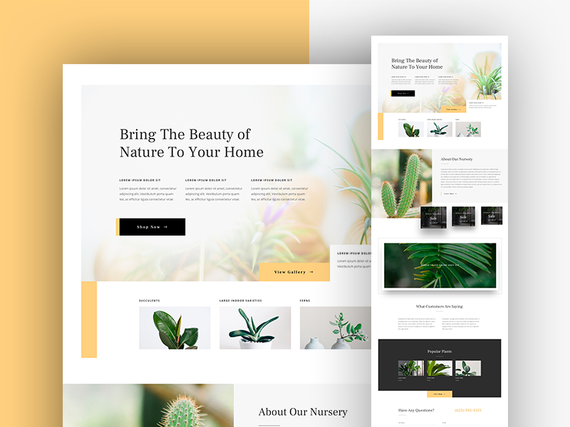 Plant Nursery Landing Page Design By Sayeed Ahmad For