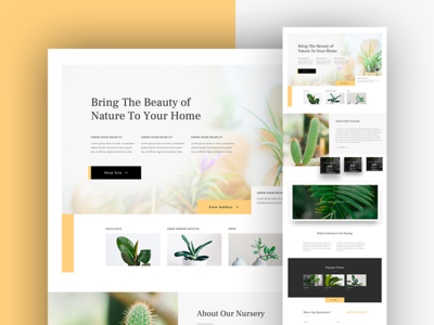Plant Nursery Landing Page Design