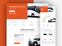 Transportation Services Landing Page Design for Divi