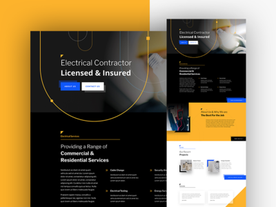 Electrician Landing Page For Divi divi web design electrical handyman busienss service electrician homepage website landing page