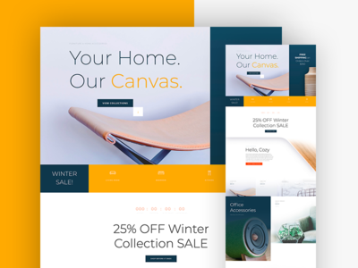 Furniture Sale Website Template For Divi business furniture store online store store ecommence shop design web desgin website landing page freebie divi