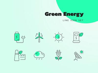 Green Energy Icon Set