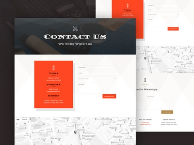 Barber Shop Contact Page Design for Divi