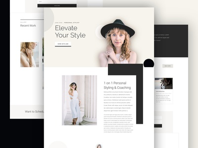Personal Stylist Landing Page Design for Divi