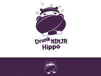 Drunk Ninja Hippo logo