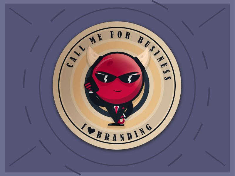 Demi´s Love Branding branding agency demon sticker mule sticker
