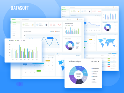 Datasoft Dashboard Presentation app web ux ui table statistics sales listing dashboard chart analytics admin