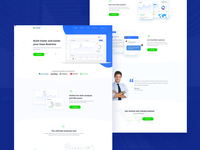 SaaS Software Landing Page + 4 Dribbble Invite