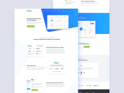 Reputationdesk Website Redesign reviews rating website landing  page ui ux agency animal