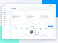 Schedule Web App meeting conference birthday notes event schedule calendar admin dashboard