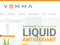 Vemma Homepage UI Design
