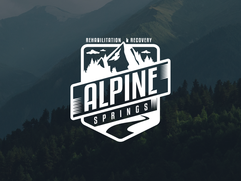 Alpine Logo Mockup hiking camping digital design illustrator brand logo