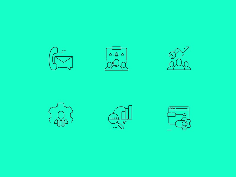 Support Icon concept customer support communication illustration icon