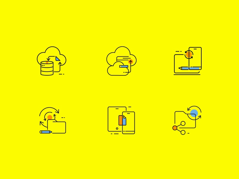 Sync concept symbol websiteicons syncing communication icon