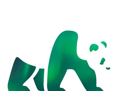 Panda silhouette bear panda