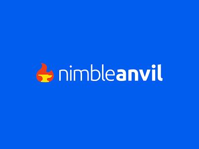 NimbleAnvil - Logo design nimble flame fire anvil logo nimble anvil