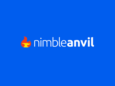 NimbleAnvil - Logo design nimble flame fire anvil logo nimble anvil