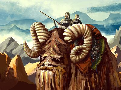 Tusken Raiders raiders tusken people sand illustration star wars desert creature bantha