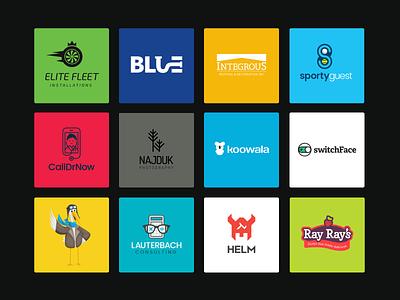 Logos Over the Years portfolio branding logos