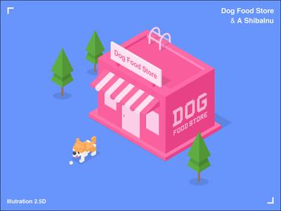 Dog Food Store & A ShibaInu