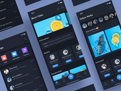 Short Video social flat ux short video ui app