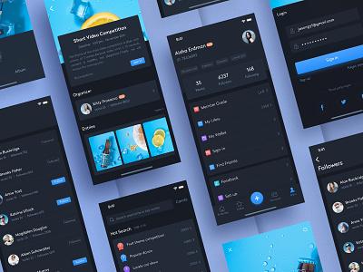 Short Video02 ux interface short video social app flat ui