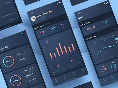 Stats App visualization data analysis interface ux app ui