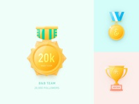 20K Followers Badge