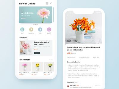 FlowerOnline flat trading online flower interface ux app ui