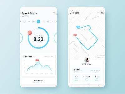 Sport Stats data statistics design ui sport app ux flat