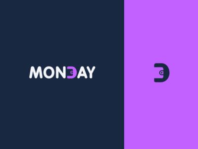 Mondaylogo logo design logomark design typography vector illustrator finance icon branding walletlogo wallet logotype mark logo logodesign