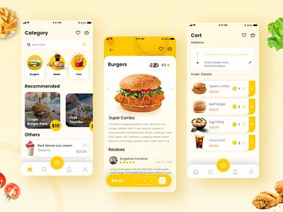 Food Delivery App designer burger menu decilious creative appdesigner appdesign burgers burger foodui food mobile ui illustration mobile app design app ux uiux ui
