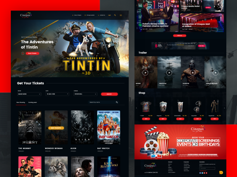 Cinepax UI desgin weblayout website uidesigner uidesign landingpage movie cinepax cinema app design mobile app design branding app ux uiux ui design