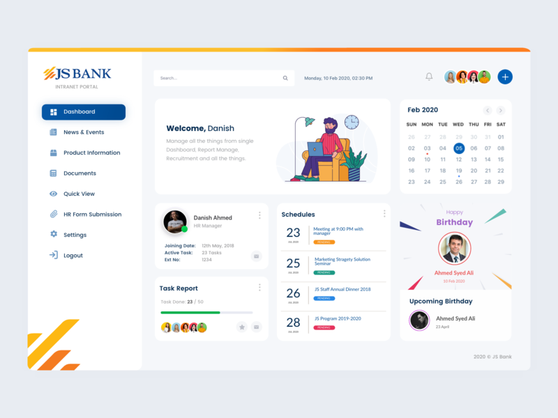 JS Intranet Portal minimalist creative multilingual portal design bank jsbank interaction interface intranet designs portal design ux uiux ui
