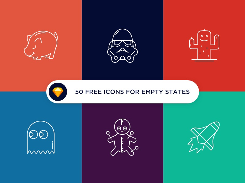 50 free icons for empty states cadabra ui empty states web mobile outline state empty set free icons