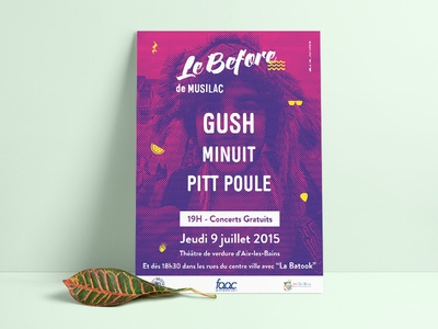 Musilac festival poster france french event concert indian indesign dualtone design print poster festival
