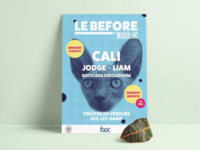 Musilac 2017 - Festival poster dualtone illustrator indesign design print festival poster musilac