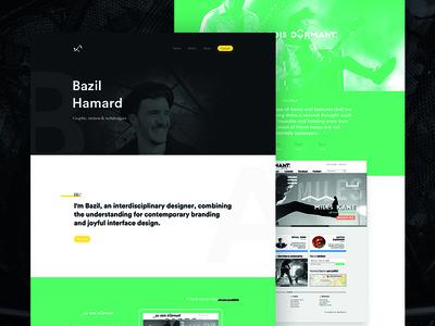 2016 portfolio landing page colorized full page scroll green landing page landing profil art direction webdesign portfolio