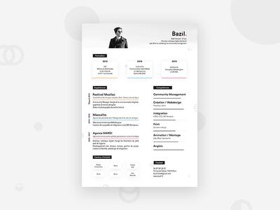 Personal Resume - Bazil Hamard - 2018 print indesign skills identity branding curriculum cv resume