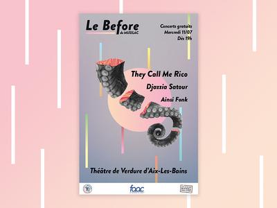 Musilac 2018 - Festival poster event color bars poster illustration indesign illustrator art direction print musilac france concert identity festival branding design