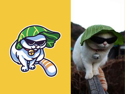 Cool dude fun love happy kids animal cool pet fat cute mascotlogo mascot design mascot illustration meme cat
