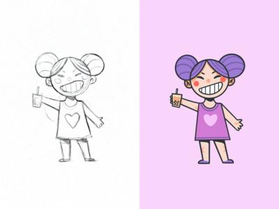 Bobba Girl Mascot