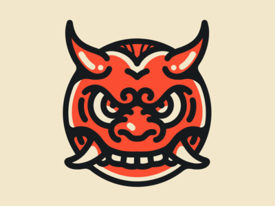 Japanese Oni Face