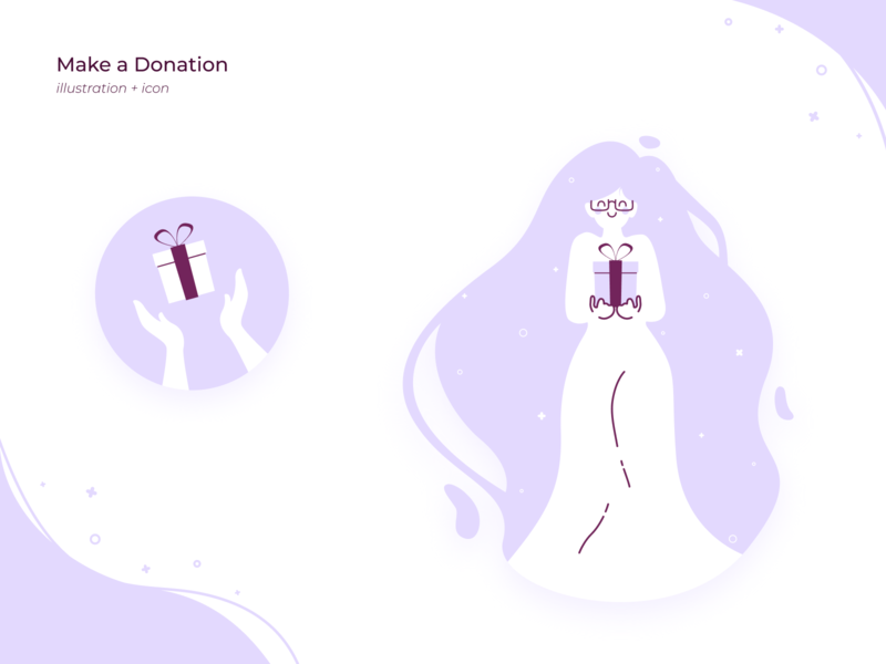 Make a Donation Illustration + Icon